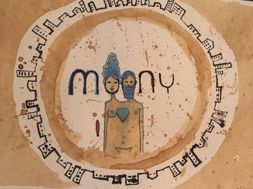 Desen creativ cuplu - Moony Coffee Room -