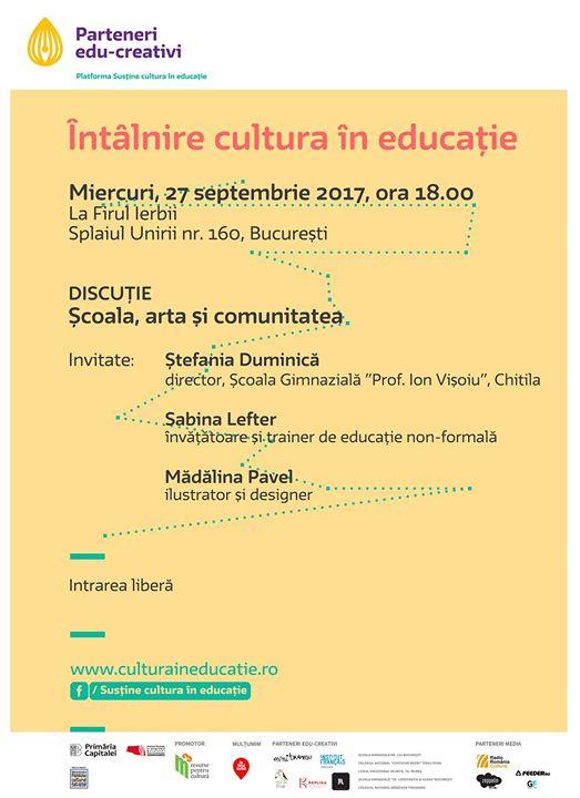 Cultura în educație - 27 Septembrie