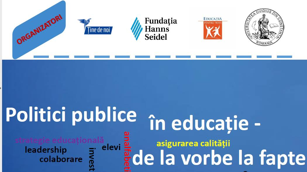 Politici publice în educație - Asociația Ține de Noi - Creșterea performanței în educație